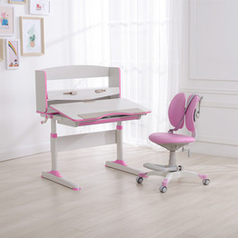Pink Color Table and Chair for Kids Children Students Learning