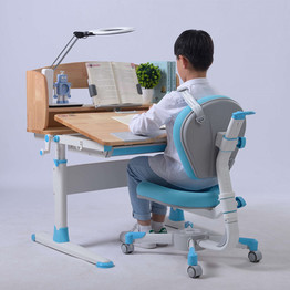 Blue Color Table and Chair for Boy Homework Table Chair Set