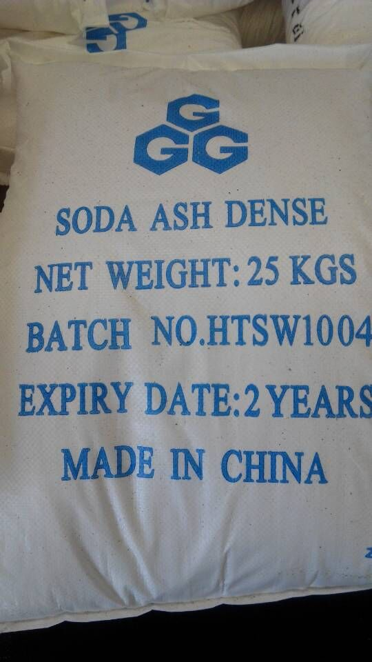 the packing of soda ash dense